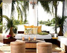 Las claves para crear un #ambiente #tropical en el interior de tu casa: Madera, bambú, mimbre, colores llamativos y plantas… ¡Muchas plantas! #decoración