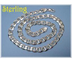 DOUBLE CLICK ON PHOTO TO BUY - STERLING SILVER ~ Heavy Big Bold Mens Chain Link Necklace ~ Italian Sterling - $135  www.FindMeTreasure.com