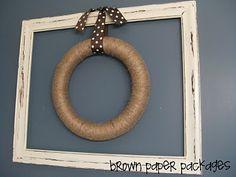 framed twine wreath...