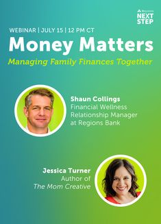 (Sponsored) Join Regions Bank, Member FDIC, for a special summertime webinar exploring 10 actionable ways to teach your kids about money with The Mom Creative author, Jessica Turner, and Shaun Collings, Financial Wellness Relationship Manager at Regions Bank. Tune in on July 15 at 12 PM CT for Money Matters: Managing Family Finances Together for easy and engaging tips, online resources, and more! Relationship Manager, Extra Credit, Tips Online, July 15, My Money, Money Matters, Anxious, Investing, Finance