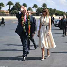 President Donald Trump arrived in Hawaii on Friday as he set out on the longest trip to Asia by an American president in more than a quarter century, looking for help to pressure North Korea to stand down from a nuclear crisis. Trump is seen with First Lady Melania Trump at Joint Base Pearl Harbor-Hickam in Hawaii on Friday