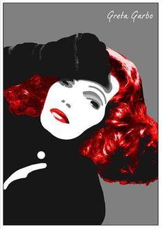 GRETA-GARBO-Film-Stars-POPart-Poster-Suitable-to-Frame