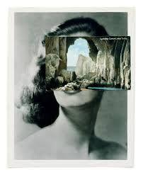 john stezaker - Google Search artista contemporâneo que desenvolve a técnica da colagem. Associa paisagens, elementos da natureza a faces.