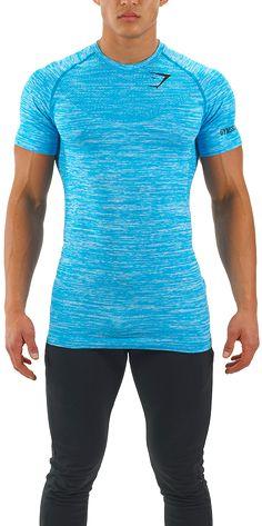 Mens Seamless T-Shirt | Aqua | Mens T-Shirt | Gymshark