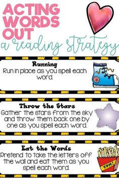 Incorporate movement, action, excitement, pretending and play into the learning and memorization of sight words with these act it out ideas. Help your students and children learn to read and memorize words in a fun and engaging way. Click the link to find