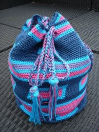 Haak patroon1 Wayuu Mochila By MG Tas©