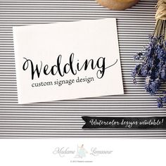 custom wedding signs design floral wedding by MadameLevasseur