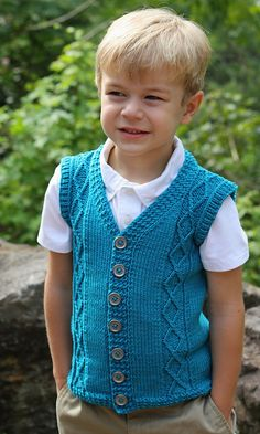 Ravelry: Diamondback Cardigan Sweater Vest pattern by Lisa K. Ross