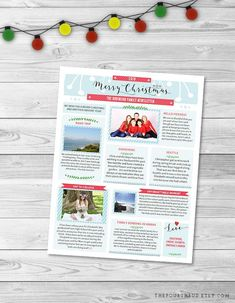 46 best christmas newsletter templates year in review templates