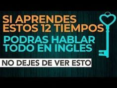 The 12 verb tenses in English that you should know - Learn Spanish English Articles, English Tips, Spanish English, English Book, English Study, English Class, English Lessons, Learn English, Grammar And Vocabulary