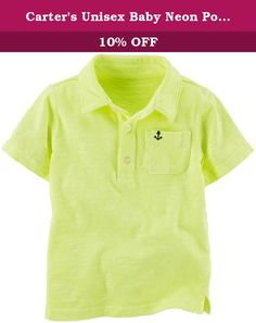 Carter's Unisex Baby Neon Polo (Baby) - Yellow - 12M. Carters Neon Polo (Baby) - Yellow Carter's is the leading brand of children's clothing gifts and accessories in America selling more than 10 products for every child born in the U.S. Their designs are based on a heritage of quality and innovation that has earned them the trust of generations of families.