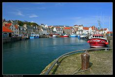 Pittenweem harbour boats, East Neuk of Fife, Scotland Scottish Quotes, Fife Scotland, Small Planet, Cornwall England, Far Away, Castle, World, Places, Travel