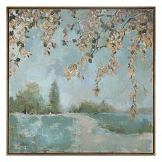 One Allium Way Peaceful Landscape Art Framed Painting Print