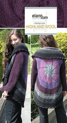 Free Pattern: Pinwheel Sweaters. Elan.com