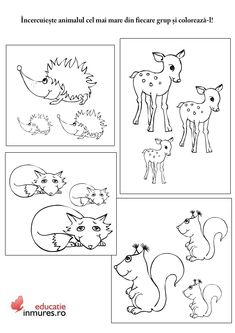 Numbers Preschool, Kindergarten Worksheets, Infant Activities, Preschool Activities, Kinder Routine-chart, Kids Routine Chart, Diy And Crafts, Crafts For Kids, Forest Animals