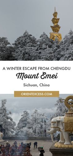Discovering Mount Emei, a famous Unesco site near #Chengdu , in winter is a must do. #China