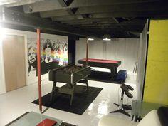 Basement game room.
