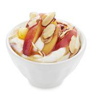 4 Greek Yogurt Recipes peach almond, raspberry chocolate, blueberry granola, and pina colada. Super easy, super yum!