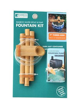 Amazon.com : Bamboo Accents Zen Garden Water Fountain Spout, Complete Kit includes Submersible Pump for Easy Install, Handmade Indoor/Outdoor Natural Bamboo (Three Arm Design - 7 Inches) : Outdoor Fountain Accessories : Patio, Lawn & Garden