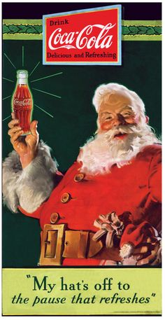 Vintage Christmas Ads from 1940s - 1980s coca cola