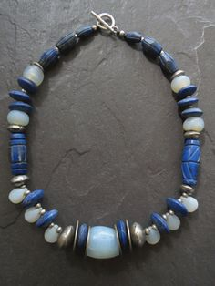A fabulous necklace for lovers of treasured collector beads. The large rare…
