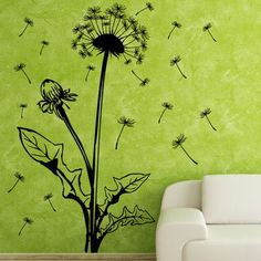 """Style and Apply Blowball Wall Decal Size: 79"""" H x 45"""" W, Color: Brown"""