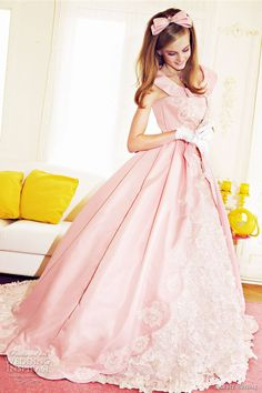 pink wedding dress~