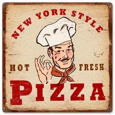 $29.97 Vintage New York Pizza Metal Sign