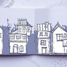 Doodland city 🏠 #art #illustration #sketch #sketchbook #doodle #doodleart  #game #indiegame #escapedoodland