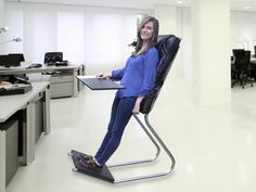 Sitting for long periods, it turns out, is not good for your health. Unfortunately, though, standing has its own problems. The LeanChair offers a middle ground, reducing the risks associated with sitting and taking some of the standing weight off your legs.