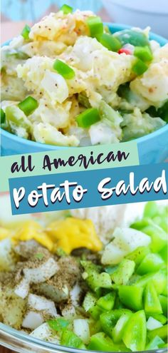 The best American Potato Salad that is ridiculously delicious and so simple to put together! This easy potato salad recipe with mayo is perfect for your summer BBQs! I'm sure you're excited to make this yummy recipe. Save this pin!