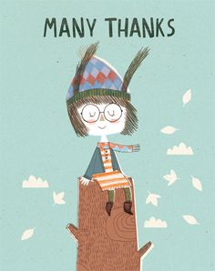 Thank you card by KateHindley on Etsy, £3.00
