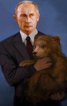 Especially bears. Putin LOVES bears. | 25 Very Important Pieces Of Vladimir Putin Fan Art