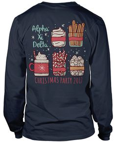 8521 Alpha Xi Delta Christmas T-shirt | GreekShirts