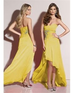 Fresh yellow prom dress~