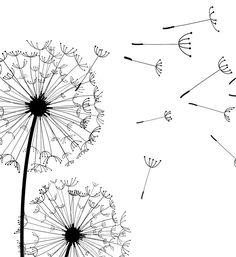 Doodle Wall, Dandelion Wall Art, Flower Doodles, Wall Art Sets, Wall Art Designs, Flower Drawing, Art, Dandelion Drawing, Prints