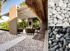 Decoración de terrazas con piedras de colores - Para Más Información Ingresa en: http://jardinespequenos.com/decoracion-de-terrazas-con-piedras-de-colores/