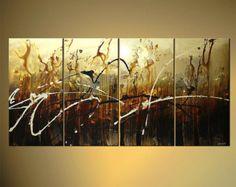 Moderna pintura abstracta contemporánea marrón por OsnatFineArt