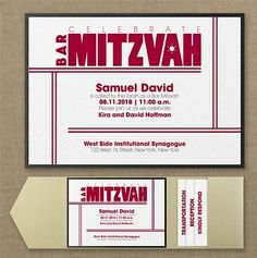 Live in Faith Pocket Bar Mitzvah Invitation