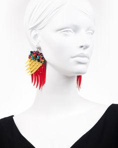 PARROT WINGS | cercei statement aripi papagal