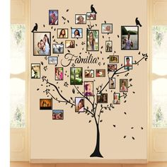 Family Tree Mural Bedrooms New Ideas Family Tree Mural, Family Wall, Tree Drawing Simple, Frame Wall Collage, Cool Tree Houses, Tree Wall Decor, Mural Wall Art, Home Room Design, Instagram