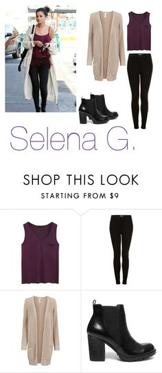 """""""selena gomez"""" by beautifulfashiondoll ❤ liked on Polyvore featuring Alygne, Topshop and Steve Madden"""