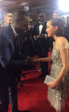 Sterling K. Brown from Stars Meeting the Stranger Things Kids at the 2017 Golden Globes  The This Is Us star had to shake Millie's hand when he saw her on the red carpet.
