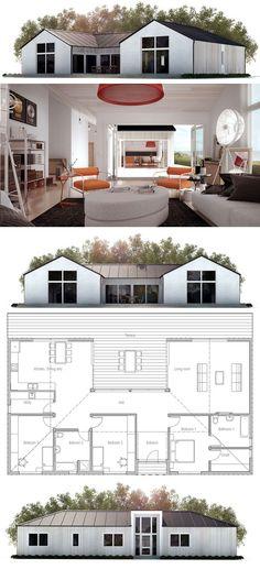 plan de maison Maisons Minimalistes Pinterest Architecture and - plan de maison design
