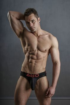 Fitness model Jamie B. by photographer Steve France featuring underwear by AMU. Enjoy the full set below with the 27 year old model flexing his muscles. Latex Men, Hottest Guy Ever, Boys Underwear, Hot Hunks, Alpha Male, Good Looking Men, Muscle Men, Male Beauty, Male Body