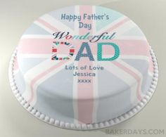 Personalised Cakes For All Occasions - Baker Days Wonderful Dad Father's Day Cake - The Best Father's Day Gift