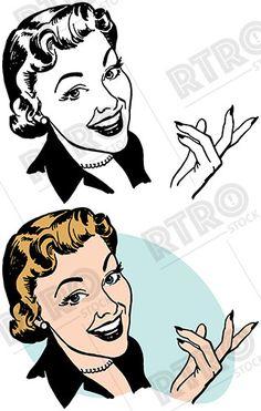 smiling woman holding a dollar bill vintage retro clip art clipart rh pinterest com  free vintage woman clipart