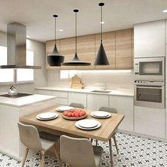 32 Open Concept Kitchen Room Design Ideas for Dummies - homemisuwur Kitchen Room Design, Kitchen Cabinet Design, Modern Kitchen Design, Living Room Kitchen, Home Decor Kitchen, Kitchen Layout, Interior Design Kitchen, Home Kitchens, Concept Design Interior