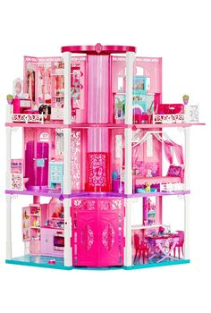 Just imagine the play-time possibilities with this a-mazing Barbie® Dreamhouse® playset!