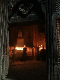 Armenia. Interior del Monasterio de Geghard